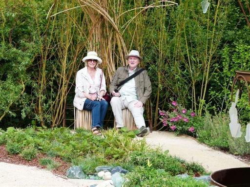 Linda at Loulou de la Falaise garden Chateau Chaumont, France