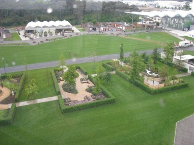 A view from the cable car gives you some idea of Floriade's huge size