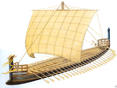 An Ancient Greek ship (from The Greek Age of Bronze)