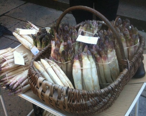 Asparagus being sold at the markets