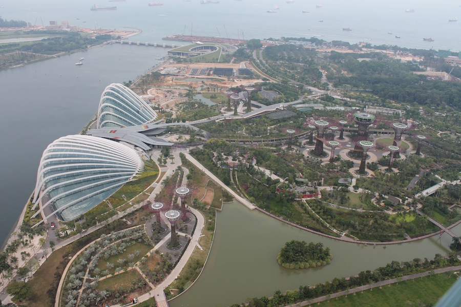 Overview of the Gardens by the Bay