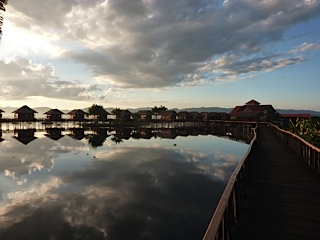 Our hotel on Inle Lake