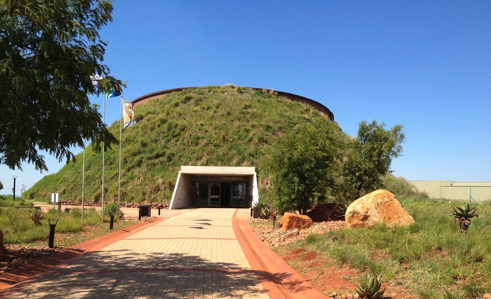 Entrance to Maropeng, the 'Cradle of Humankind'