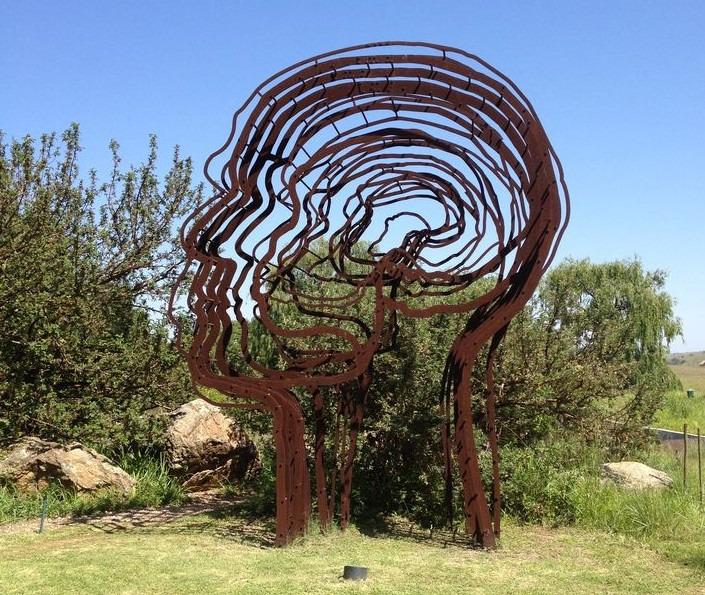 Metal sculpture by Marco Cianfanelli