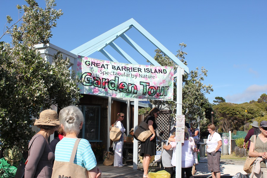 Great Barrier Island 'Spectacular by Nature' garden tour gathering point