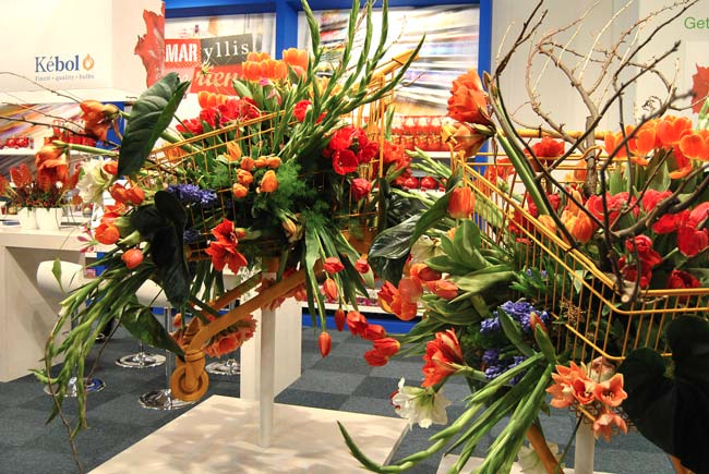 One of the floral displays at IPM Essen