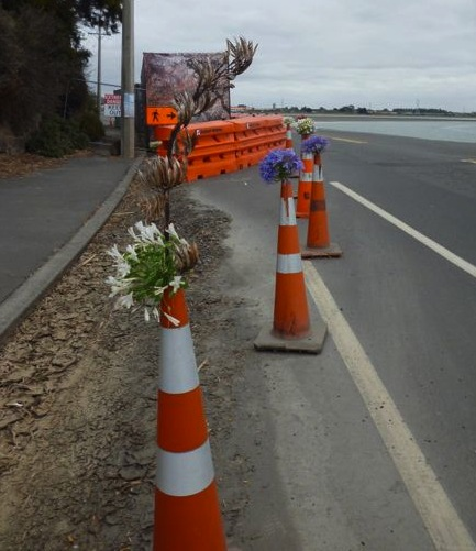 Christchurch bollard blooms
