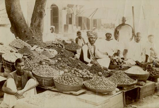 Indian spice market, c1875