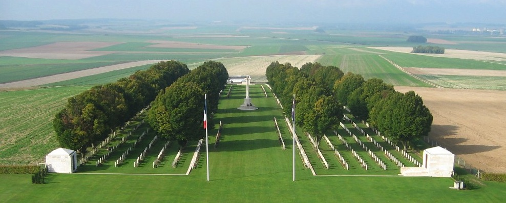 Villers Bretonneaux with its hornbeam trees CWGC