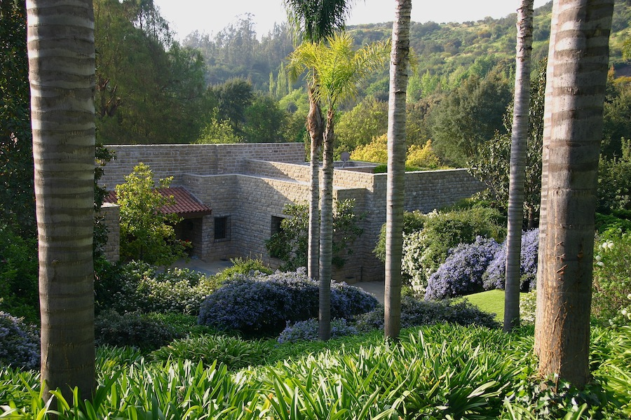 Landscaped terraces at the Allende garden. Design Juam Grimm