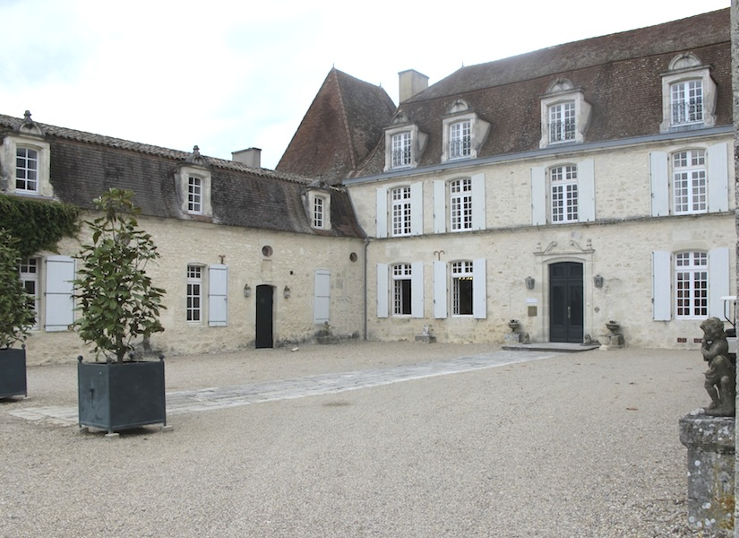 Chateau used as accommodation on the golf course
