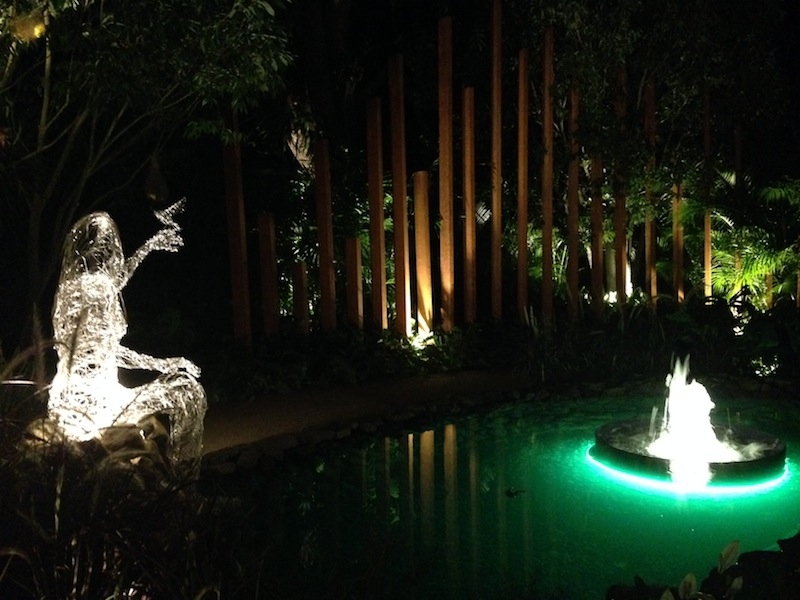 Night lighting in Singapore garden Design John Tan and Raymond Toh