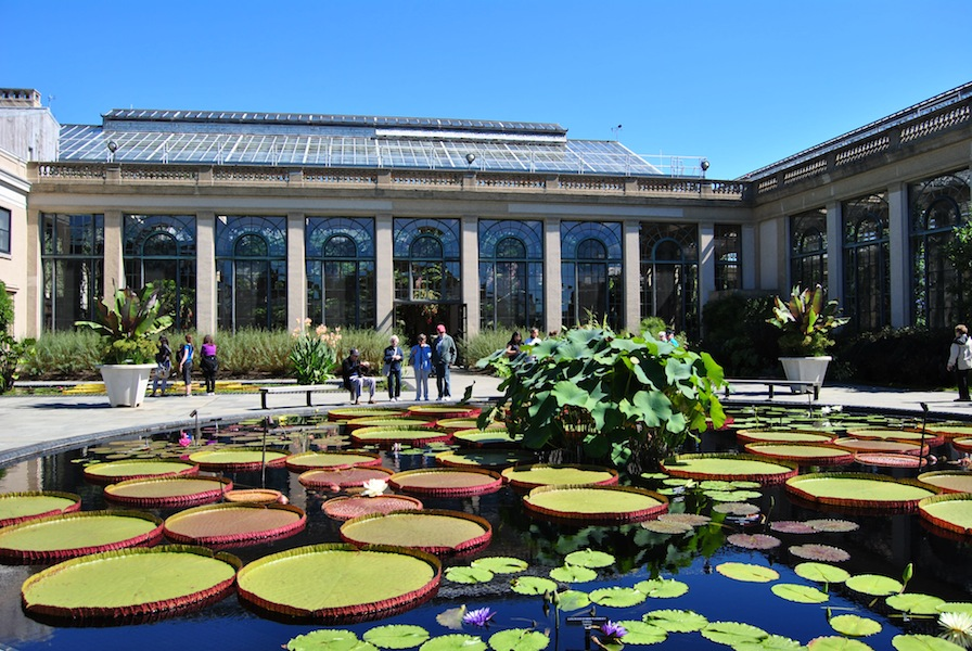 The rear of the conservatory at Longwood Gardens