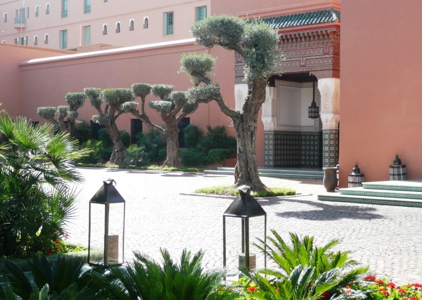 Hotel La Mamounia Olive topiaries