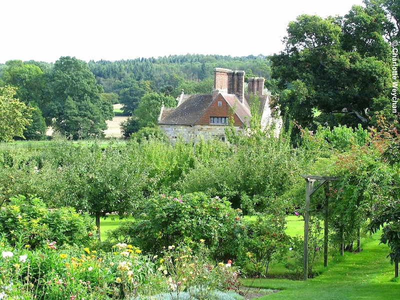 Batemans and orchard. Photo courtesy Charlotte Weychan, The Galloping Gardener