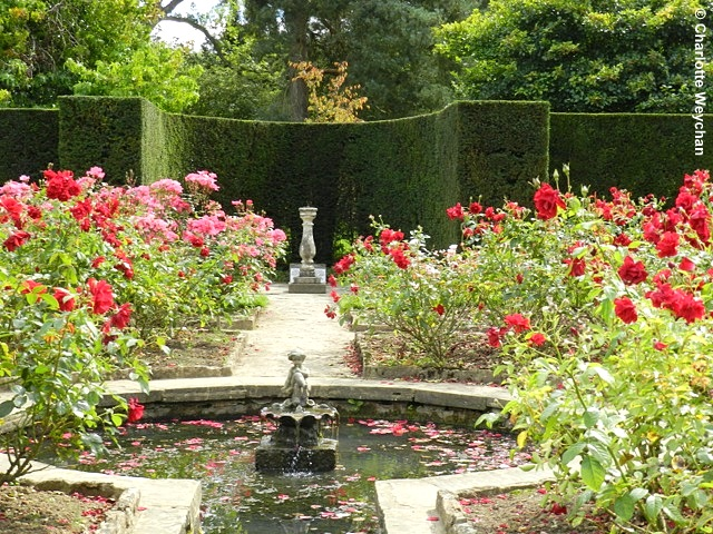 Pond and sundial at Batemans. Photo courtesy Charlotte Weychan, The Galloping Gardener