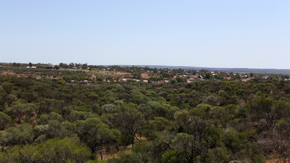 Town of Mullewa from the nearby lookout
