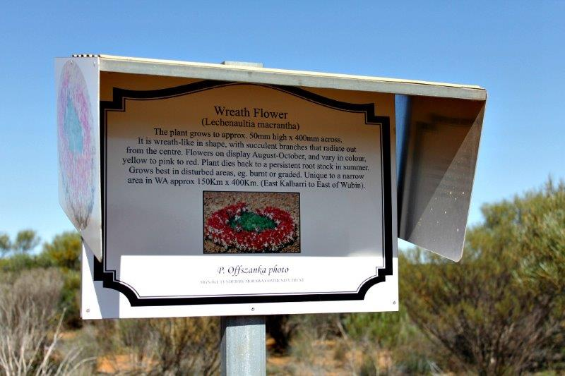 Wreath flower sign, Morawa Western Australia