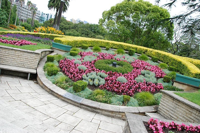 Floral Clock 2011 in Albert Park, Auckland, New Zealand