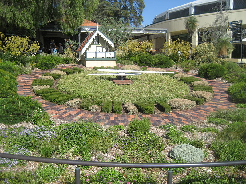 Floral Clock Kings Park, Western Australia. Photo by Moondyne 2011