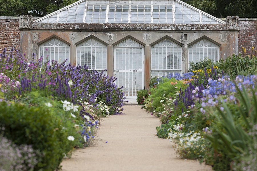 Abbotsford's flower-filled South Court. Photo Angus Bremner© Bremner Design, courtesy The Abbotsford Trust