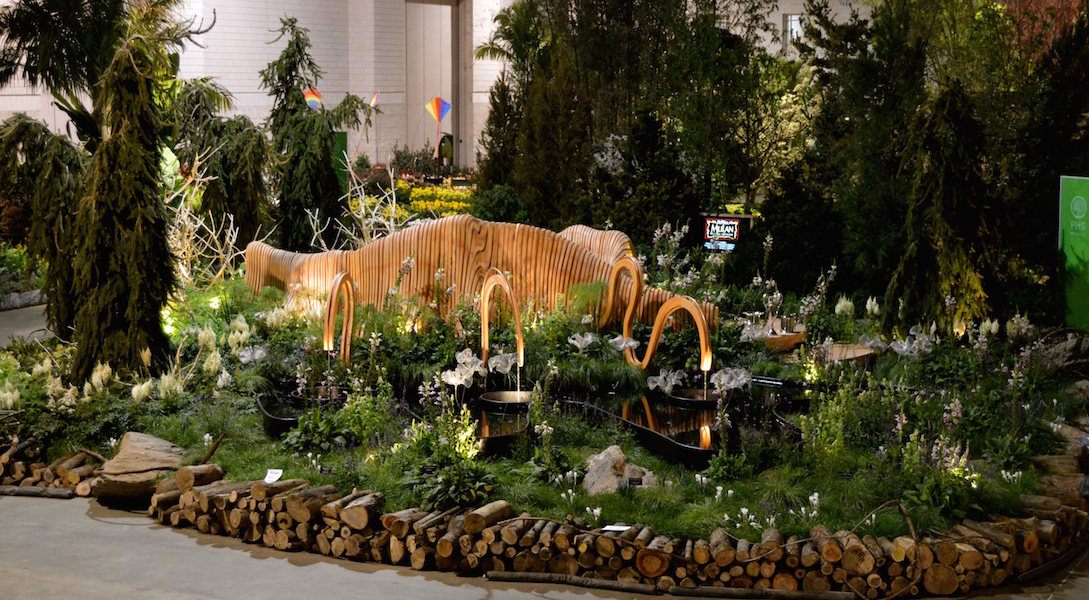 'A Maleficent View' Design Leon Kluge. Best in Show Landscape at Philadelphia Flower Show 2015