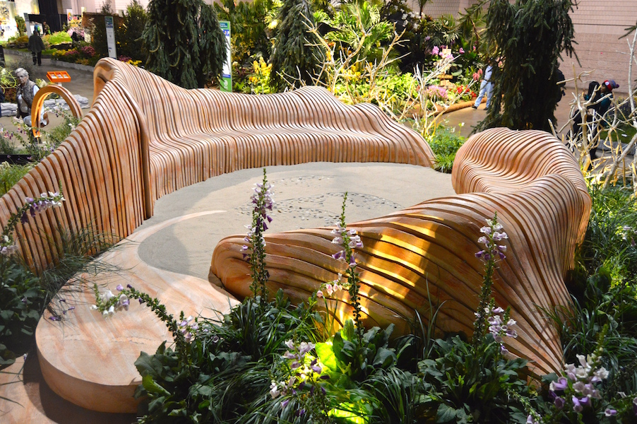 Sculpted seating in 'A Maleficent View' Design Leon Kluge
