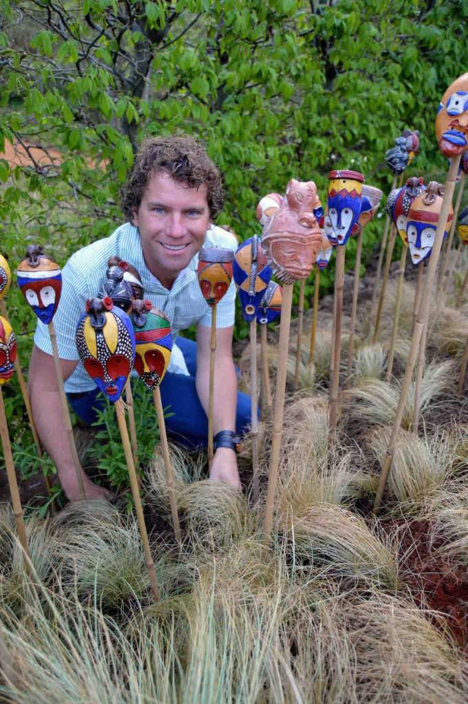 Leon Kluge in 'African Kitchen' garden