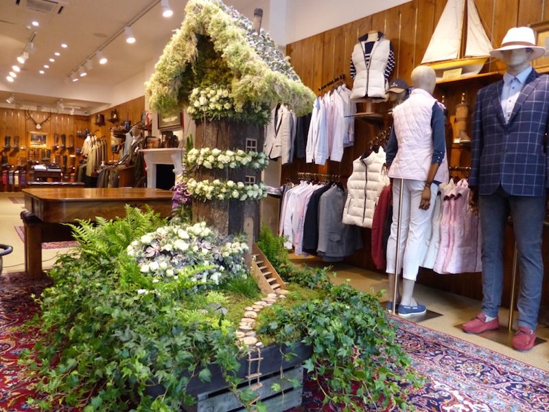 Inside Dubarry shop Sloane in Bloom 2015