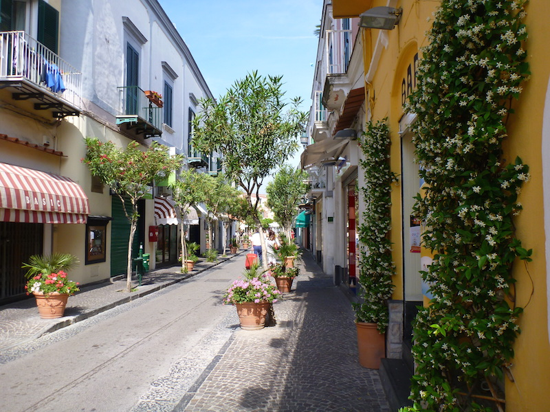 Picturesque streets of Ischia, Italy