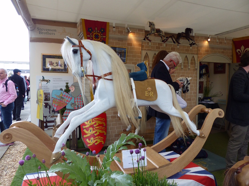 Rocking horse, hand carved of course. This is No.2 in a limited edition commemorating the 800th anniversary of the signing of the Magna Carta. No. 1 was presented to the queen last week. Yours for £9000