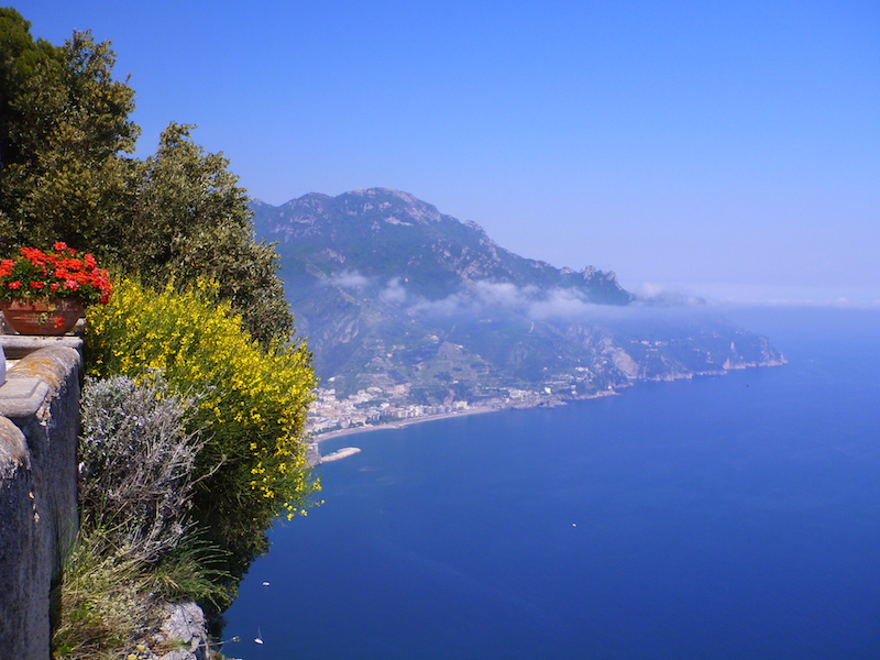 The view from Villa Cimbrone, Amalfi Coast, Italy