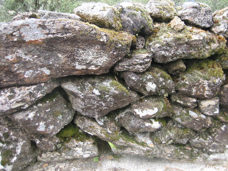 Dry stone wall, Portuguese-style. Serra d'Arga, Portugal
