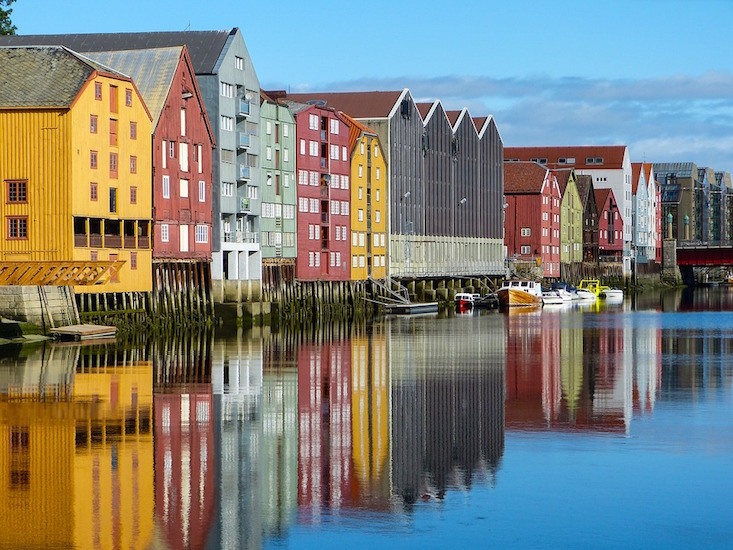 Storage houses in Trondheim, Norway