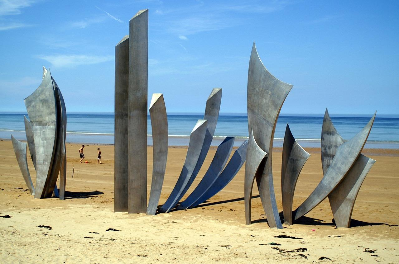 Omaha Beach D Day Memorial Normandy France Garden