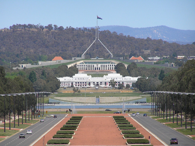 Parliament House Canberra. ACT. Photo Brenden Ashton via Flickr