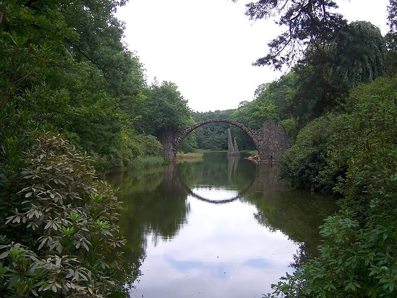 Rakotzbrücke Gablenz. Photo René Mettke