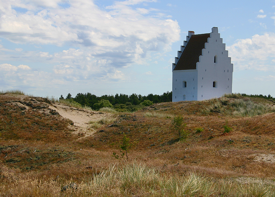 Sand-covered church, Skagen Denmark. Photo Malene Thyssen