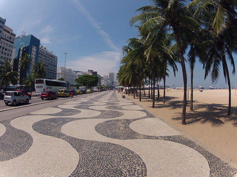 Calçadão de Copacabana - Rio de Janeiro. Photo Allan Fraga