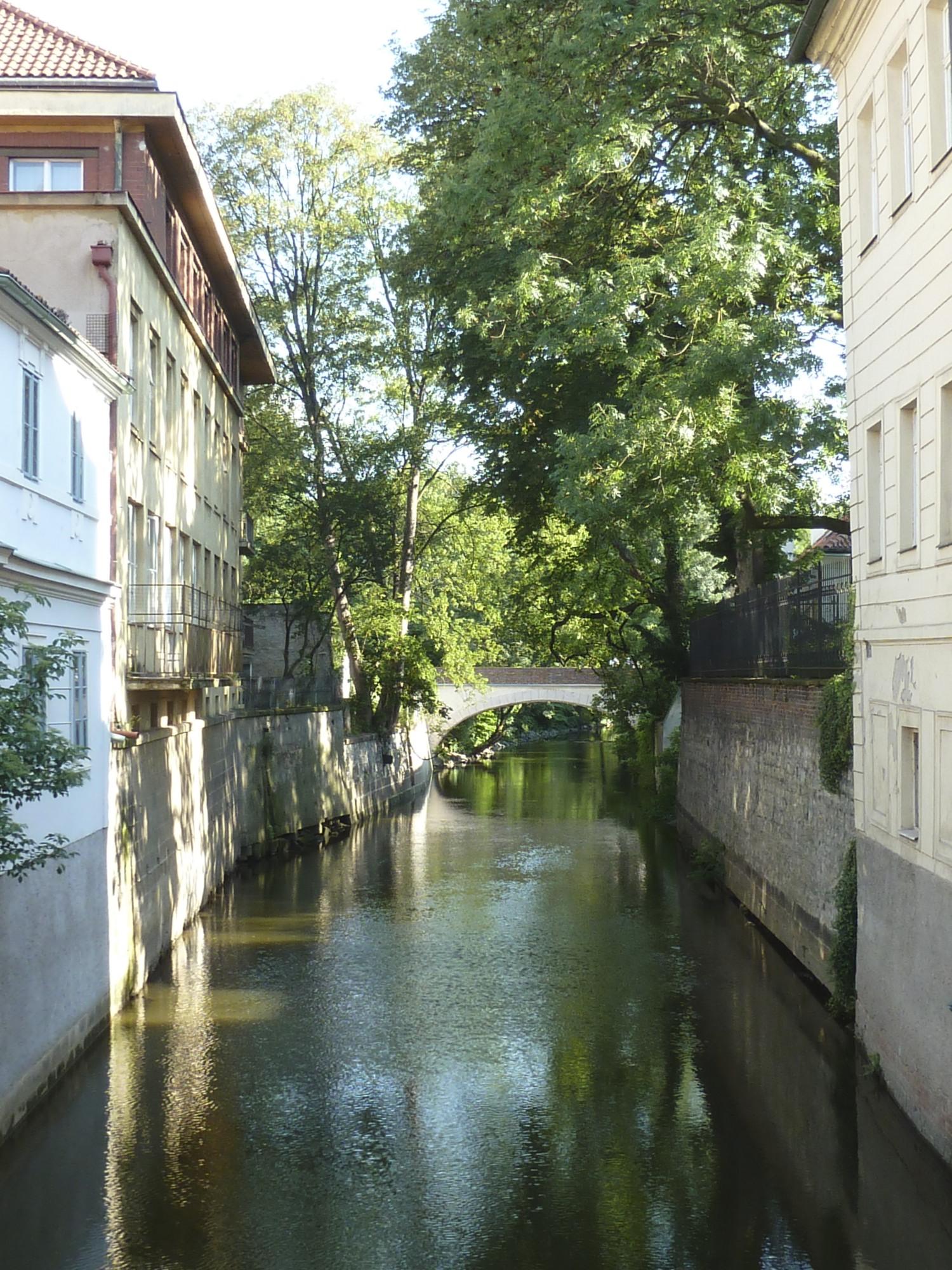 Prague Canal Czech Republic Garden Travel Hub