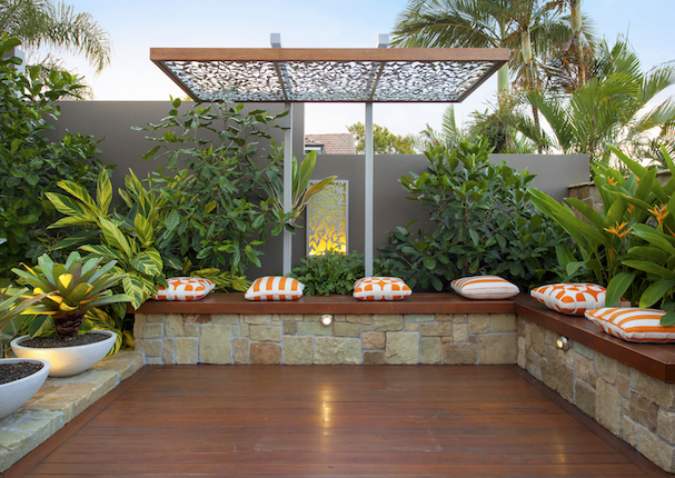 Small garden design design utopia landscape design for Courtyard landscaping brisbane