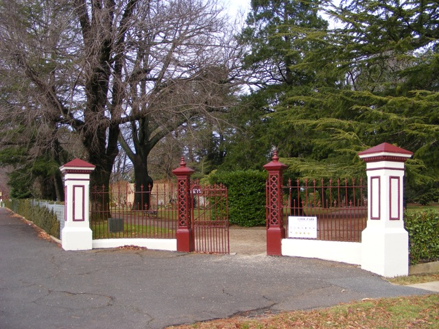 Main gates at Cook Park, Orange. Photo Margaret Fallon