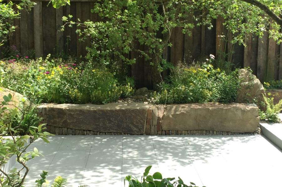 The M&G Garden designed by Cleve West. Chelsea Flower Show 2016