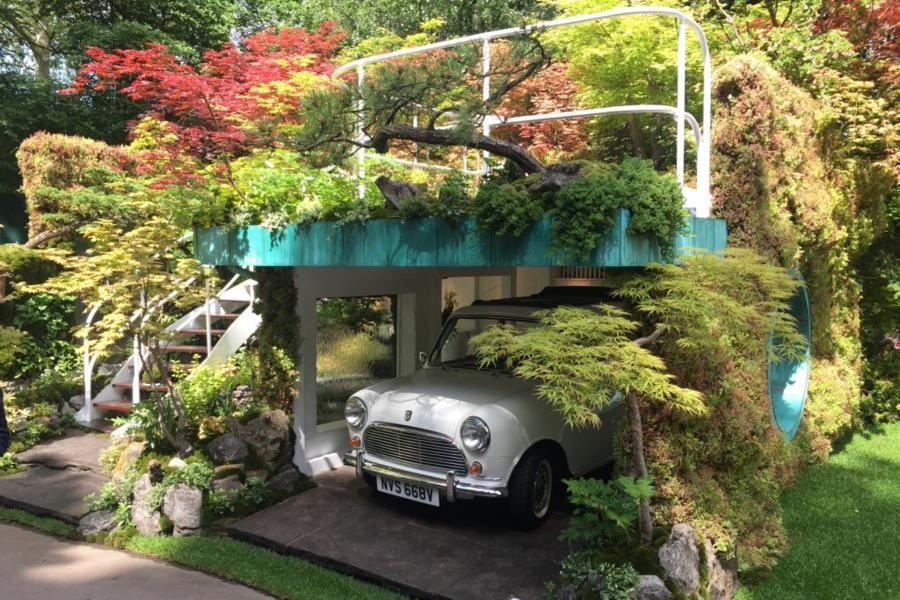 Senri-Sentei Garage Garden designed by Kazuyuki Ishihara. Chelsea Flower Show 2016