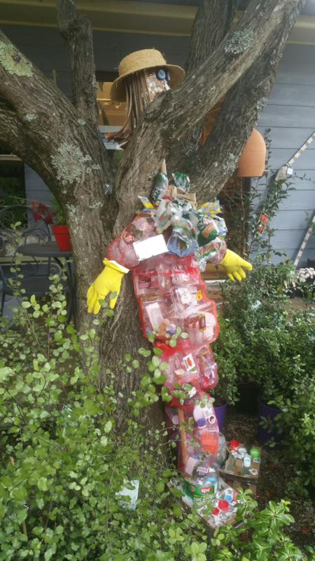 Scarecrow Competition encouraging re-use of materials for construction