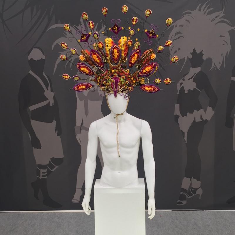 Floral artist head piece, Chelsea Flower Show 2016