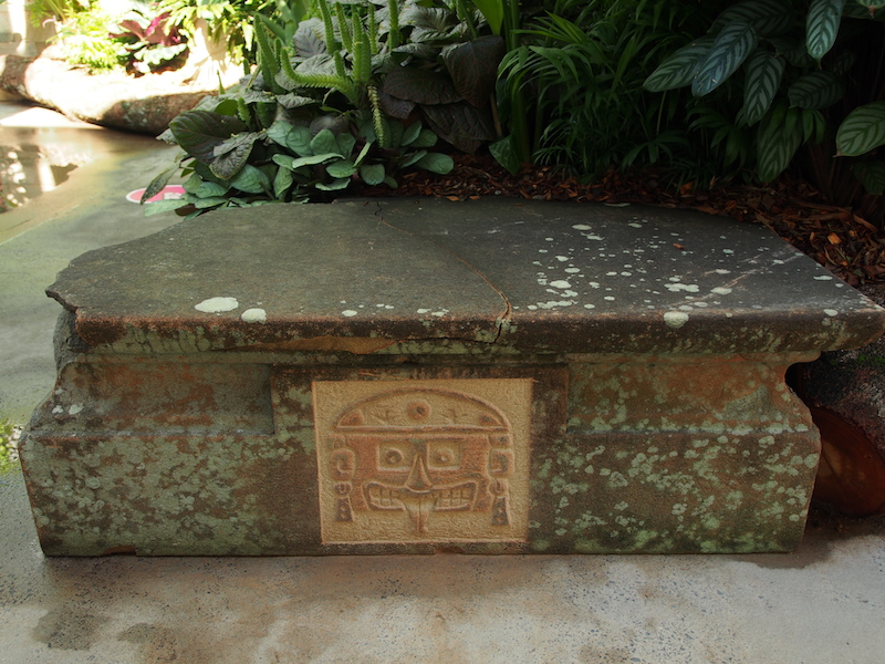 Mayan-style carving The Calyx, Sydney RBG