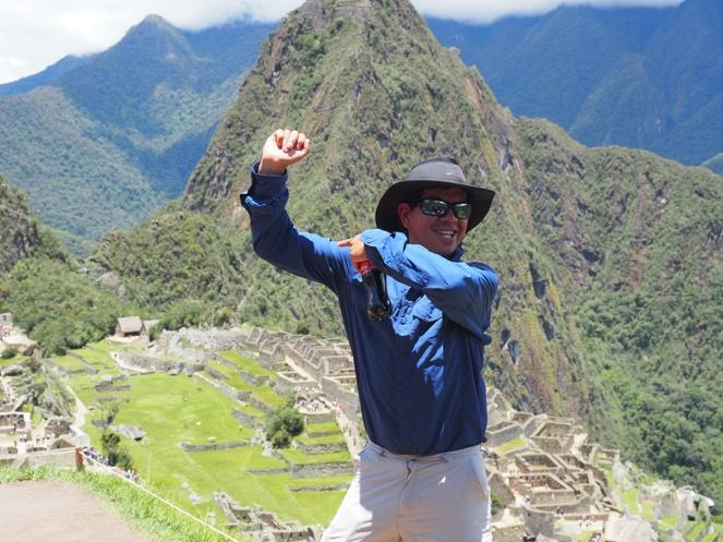 Darwin Mendoza, our guide in Peru