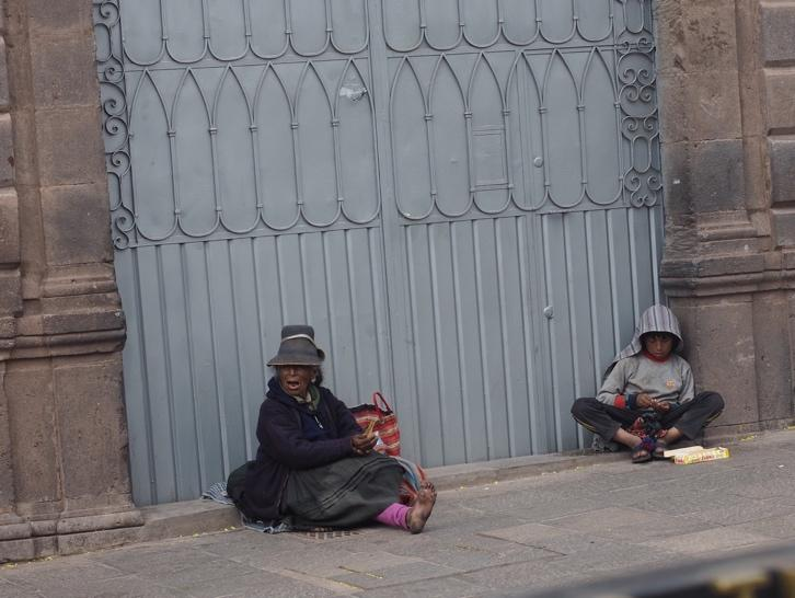 People come from surrounding mountain districts to capitalise on the wealth of Cusco