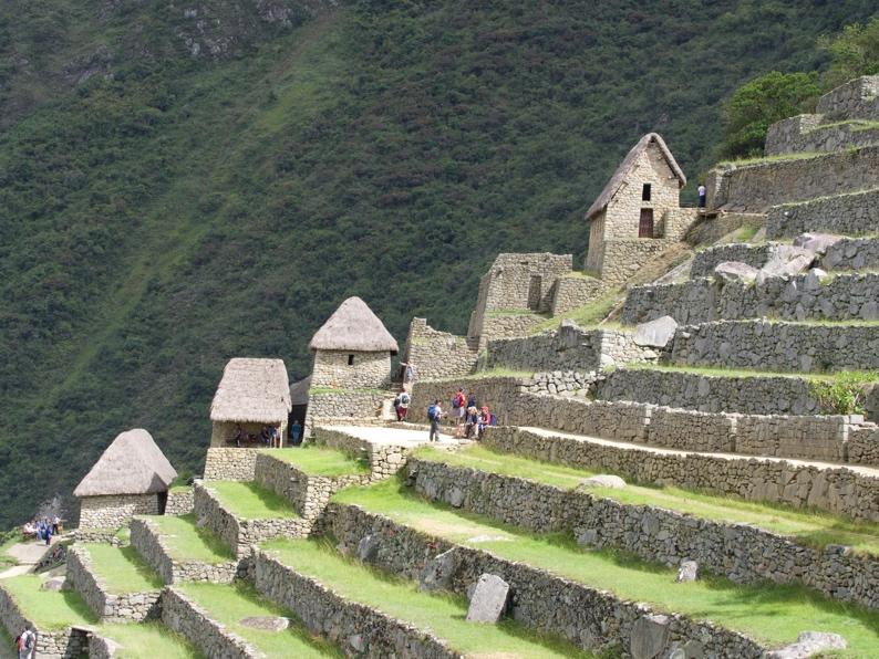 Terraces of Machu Picchu, which used to be vegetable gardens
